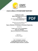 Internship report of ISHAN EQUIPMENTS ltd