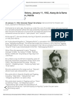 Atang de La Rama Was Born in Pandacan, Manila January 11, 1902