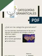 Categorías gramaticales