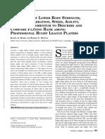 comparison of lower body pdf