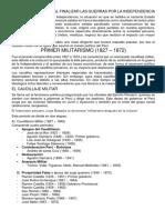 PRIMER MILITARISMO EN EL PERU