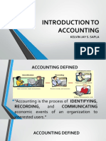 Lesson 1 Introduction to Accounting