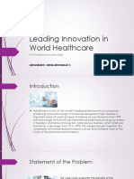 Leading Innovation in World Healthcare