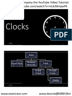 Clocks YouTube Lecture Handouts