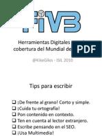 Herramientas Digitales para la cobertura del Mundial de Voleibol