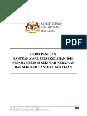 Garis Panduan Bantuan Awal Persekolahan 2019 2 Docx