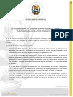 COMUNICADO OFICIAL DEL GOBIERNO LEGÍTIMO DE VENEZUELA SOBRE LA INVESTIGACIÓN SOLICITADA POR EL PRESIDENTE GUAIDÓ