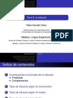 Sujeto, objeto, verbo, dativo de interés y dativo posesivo DEL ESPAÑOL