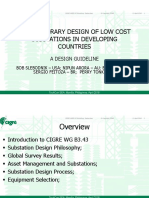 CONTEMPORARY DESIGN OF LOW COST SUBSTATIONS IN DEVELOPING COUNTRIES