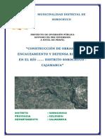 Creacion de Defensa Ribereña y Encauzamiento de Rio