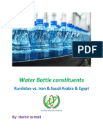 Water Bottle constituents Kurdistan vs. Iran & Saudi Arabia & Egypt