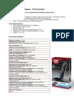 Smart Control + PS3 Adapter Fiche Technique