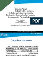 Derechos de Los Pueblos Indigenas en Colombia
