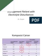 Management Patient With Electrolyte Disrtubances Edit