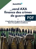 Rapport Sumofus - Quand Axa Finance Des Crimes de Guerre