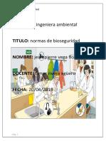 (Normas de Bioseguridad) informe