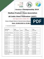8th National Amateur Bhopal 2019 Prospectus