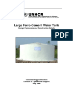 Ferrocement Water Tank Design Parameters and Construction Details (UNHCR, 2006)