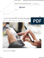 Calculo IRRF 2019