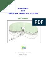 Standards for Landscape Irrigation System