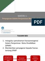 MATERI 1- PENYEGARAN SPMP.pptx