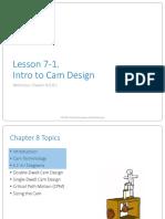Ch8 Lecture 1 Intro to Cam Design