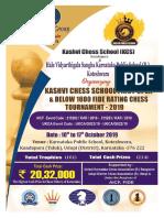 KCS First Open Below 1600 Fide Rating Chess Tournament 2019