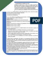 2.- Objetivos de Aprendizaje y Consideraciones Metodológicas Por Componente