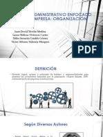 Ciclo administrativo. Organización
