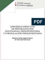 4 Aprueban Directiva de Porgramacion Multianual Presupuestaria y Formulacion Presupuestaria