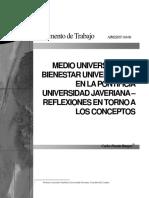 Informe Medio Universitario y Bienestar PUJ