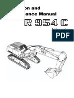 Liebherr r 954 c Litronic Operation and Maintenance Manual