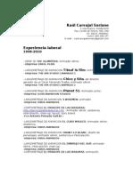Curriculum Raul Carvajal2010