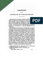 BREHIER (Louis), Constantin Et La Fondation de Constantinople