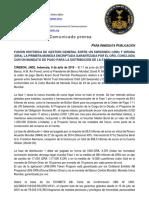 8-7-2019 SPANISH PRESS RELEASE - HISTORIC GENERAL MANAGEMENT MERGER BETWEEN UN SWISSINDO (UNS) AND DIRUNA (DRA)