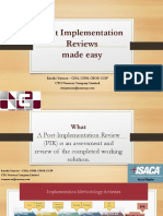 Post Implementation Reviews Made Simple