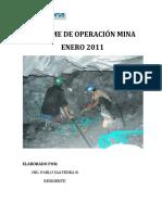 Informe Operacion Mina Ene-11