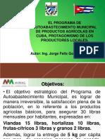 El programa de autoabastecimiento municipal de productos agrícolas en cuba, protagonismo de los productores locales (MINAG)