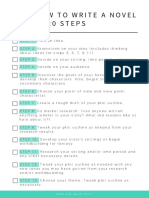 Write a Novel Checklist
