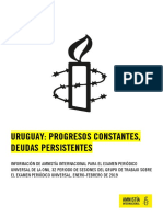 Informe Amnistía Internacional Uruguay