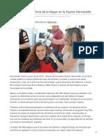 28-06-2019 - Realizan Primera Feria de La Mujer en La Nuevo Hermosillo - H.canalsonora.com