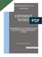 EXPEDIENTE TECNICO MANTENIMIENTO DE POSTA
