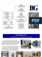 BG Machine Inc Sales Brochure