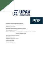 Reporte Servicio Social UPAV Informática Administrativa
