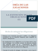 10 - Teoría de las obligaciones - Extinción de las obligaciones (I) - resciliación y pago (efectivo-consignación-subrogación-beneficio de competencia-dación en pago)