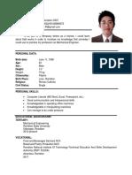 Resume for Ojt