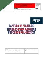 CAPITULO IV Planes de Trabajo Para Abordar Procesos PELIGROSOS Abel
