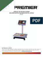 Calibracion Balanza Premier de Plataforma