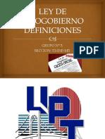 Ley de Infogobierno Definiciones 222222