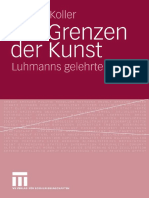[Markus Koller] Die Grenzen Der Kunst Luhmanns Ge